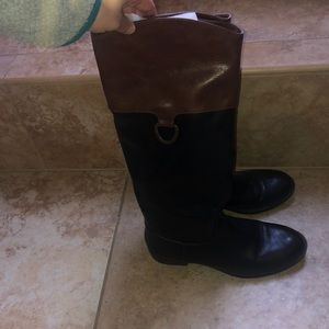 Shoes - Tan/black riding boots! Never worn.